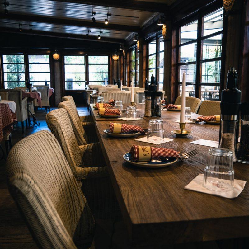 Tischdekoration-Steakhouse